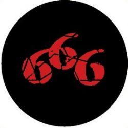 666 (jelvény, 2,5 cm)