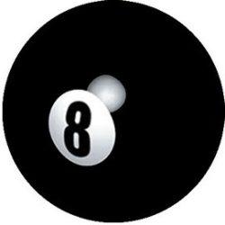 8 BALL (jelvény, 2,5 cm)