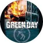 GREEN DAY: Fire (jelvény, 2,5 cm)