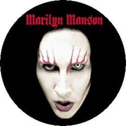 MARILYN MANSON: Face (jelvény, 2,5 cm)