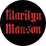 MARILYN MANSON: Logo (jelvény, 2,5 cm)