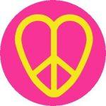 PEACE: Sziv (jelvény, 2,5 cm)