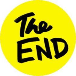 THE END (jelvény, 2,5 cm)