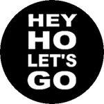 RAMONES: Hey Ho (jelvény, 2,5 cm)