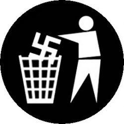 GEGEN NAZIS (jelvény, 2,5 cm)