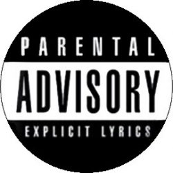 PARENTAL ADVISORY (jelvény, 2,5 cm)