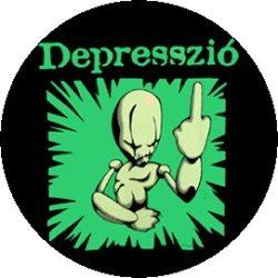 DEPRESSZIÓ: Sokkold a rendszert! (jelvény, 2,5 cm)