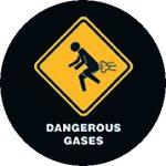 DANGEROUS GASES (jelvény, 2,5 cm)