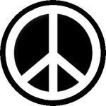 PEACE SYMBOL (F/F) (jelvény, 2,5 cm)