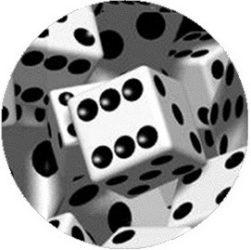 DOBÓKOCKA (jelvény, 2,5 cm)