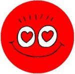 SMILEY: Szívek (jelvény, 2,5 cm)