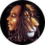 BOB MARLEY: Lion (jelvény, 2,5 cm)