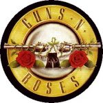 GUNS N' ROSES: Logo (Crossed Guns) (jelvény, 2,5 cm)