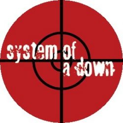 SYSTEM OF A DOWN: Target (jelvény, 2,5 cm)