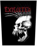 EXPLOITED: Bastard Skull (hátfelvarró / backpatch)