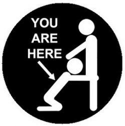 YOU ARE HERE (jelvény, 2,5 cm)