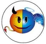 SMILEY: Devil-Angel (jelvény, 2,5 cm)