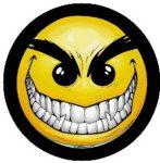 SMILEY: Gonosz (jelvény, 2,5 cm)