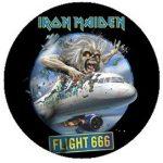 IRON MAIDEN: Flight 666 (jelvény, 2,5 cm)