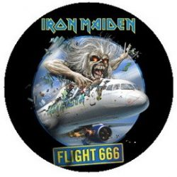 IRON MAIDEN: Flight 666 (jelvény, 2,5 cm)