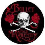 BULLET FOR MY VALENTINE: Skull Logo (jelvény, 2,5 cm)