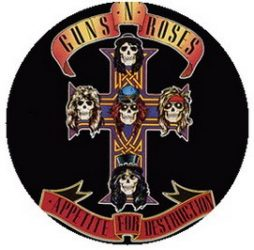 GUNS N' ROSES: Appetite For Destruction (jelvény, 2,5 cm)