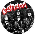DESTRUCTION: Band (jelvény, 2,5 cm)