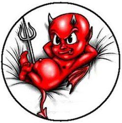 DEVIL BABY (jelvény, 2,5 cm)