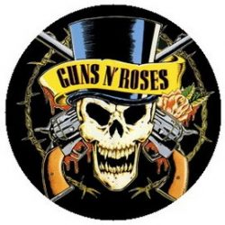 GUNS N' ROSES: Kalapos (jelvény, 2,5 cm)