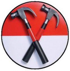 PINK FLOYD: Hammers (jelvény, 2,5 cm)