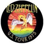 LED ZEPPELIN: U.S. 1975 (jelvény, 2,5 cm)