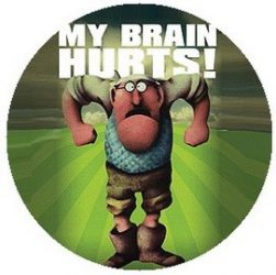 MONTY PYTHON: My Brain Hurts! (jelvény, 2,5 cm)