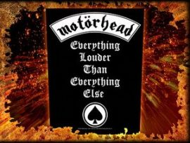 MOTORHEAD: Everything Louder (hátfelvarró / backpatch)