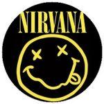 NIRVANA: Smiley (jelvény, 2,5 cm)