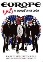 EUROPE: Live At Shepherd's Bush (DVD, 170', kódmentes)
