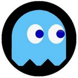 PAC-MAN: kék (jelvény, 2,5 cm)