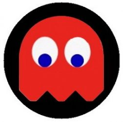 PAC-MAN: piros (jelvény, 2,5 cm)