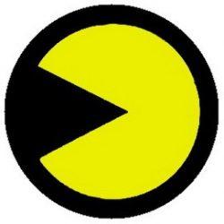 PAC-MAN: sárga (jelvény, 2,5 cm)