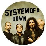 SYSTEM OF A DOWN: Band (jelvény, 2,5 cm)