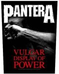 PANTERA: Vulgar Display (hátfelvarró / backpatch)