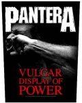 PANTERA: Vulgar Display (hátfelvarró / backpatch)
