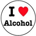 I LOVE ALCOHOL (jelvény, 2,5 cm)