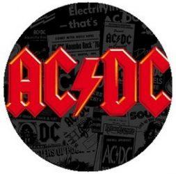 AC/DC: Logo Red (jelvény, 2,5 cm)