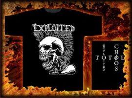 EXPLOITED: Mohican Skull (póló)