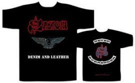 SAXON: Denim & Leather (póló)