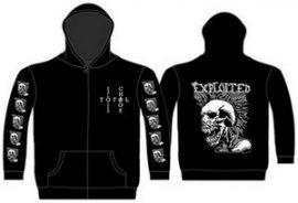 EXPLOITED: Mohican Skull (kapucnis pulóver, cipzáros)