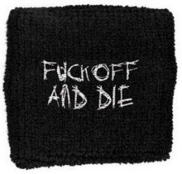 DARKTHRONE: Fuck Off  (frottír csuklószorító)
