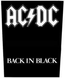 AC/DC: Back In Black (hátfelvarró / backpatch)