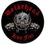MOTORHEAD: Iron Fist (hátfelvarró / backpatch)