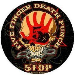 FIVE FINGER DEATH PUNCH: Skull (jelvény, 2,5 cm)